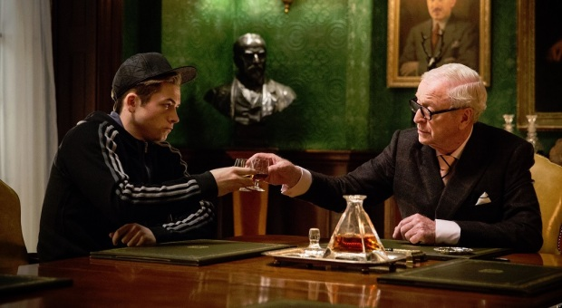 Taron Egerton and Michael Caine in Kingsman: The Secret Service