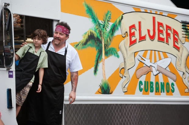 Emjay Anthony and Jon Favreau in Chef