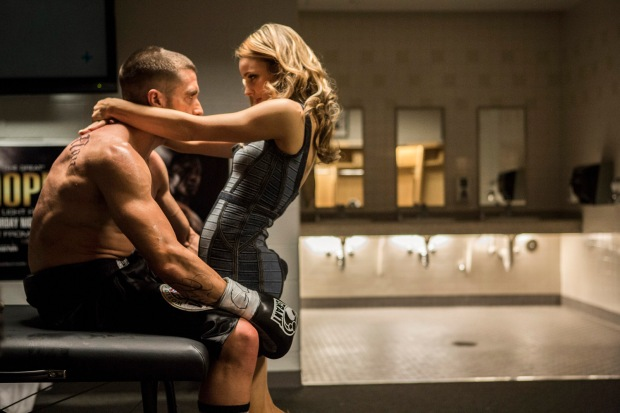 Jake Gyllenhaal and Rachel McAdams in Southpaw