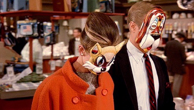 Audrey Hepburn and George Peppard in Breakfast at Tiffany's
