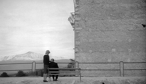 Gabriele Ferzetti and Monica Vitti in 'L'avventura'
